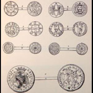 Collection of samples of the coins used in the Dukedom of Lucca